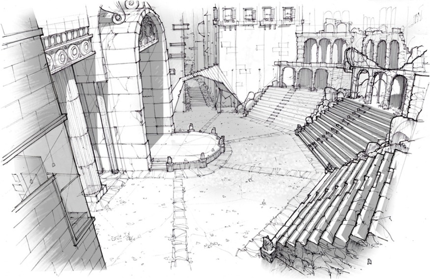 Amphitheater sketch