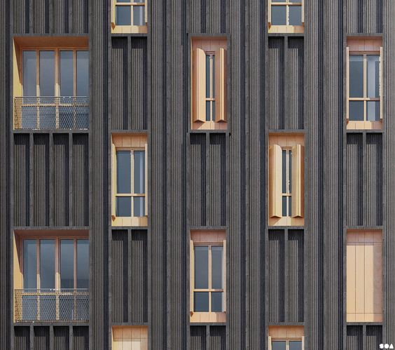 Black strips & sepia windows (SOA Architects Paris)