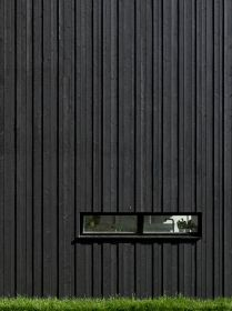 Black strips & windows close facade - 02