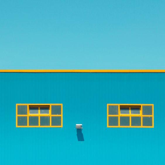 Minimalist watercolors facade