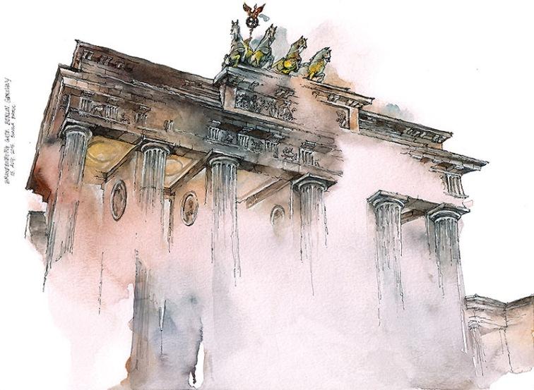 Monument blured illustration