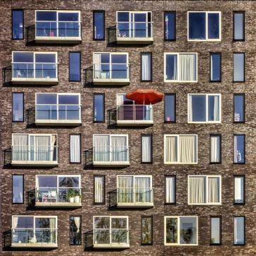 Brown bricks White windows (Paul Boruns)