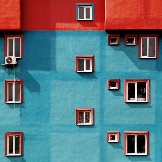 Minimalist watercolors facade
