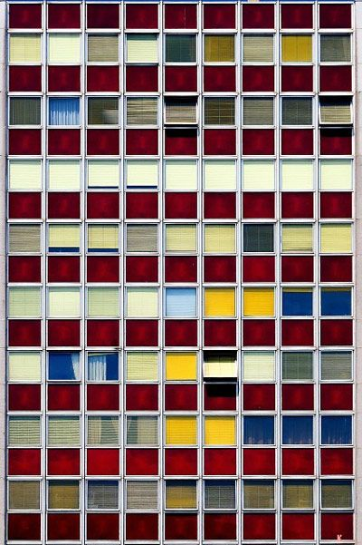 Colorful windows facade - 04