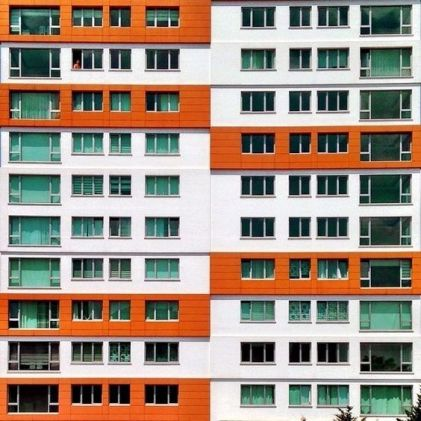 Colorful windows facade.Istanbul (Ph.Yener Torun) - 02