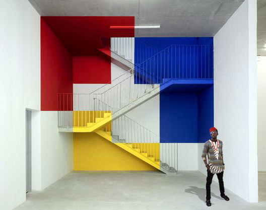 Colorful stairs perspective