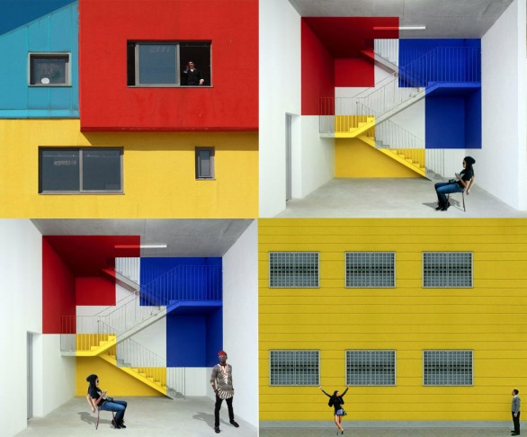 Colorfull stairs perspective-4c