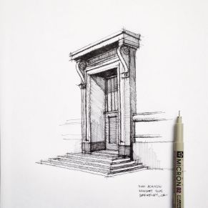 Classical architecture sketch