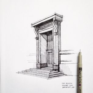 Classical architecture sketch