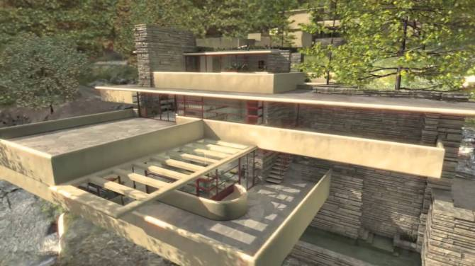 Fallingwater house - F. Lloyd Wright