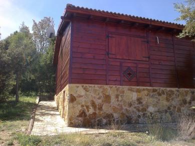 El Monte de Los Cortos - Cabaña piedra y madera