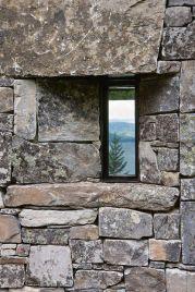 Grey stones irregular masonry