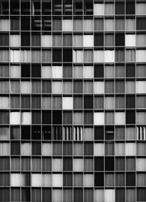 Grey windows Berlin facade - 01
