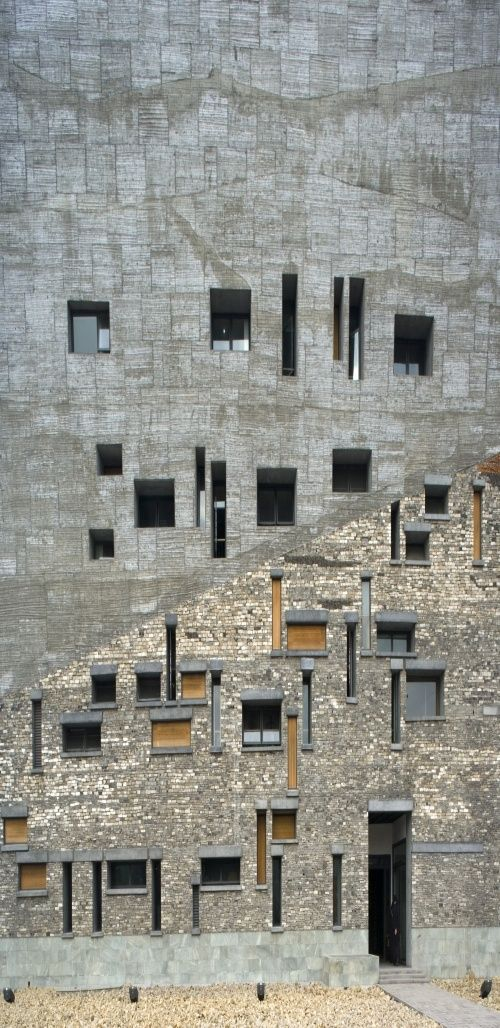 Mixed concrete & stone texture