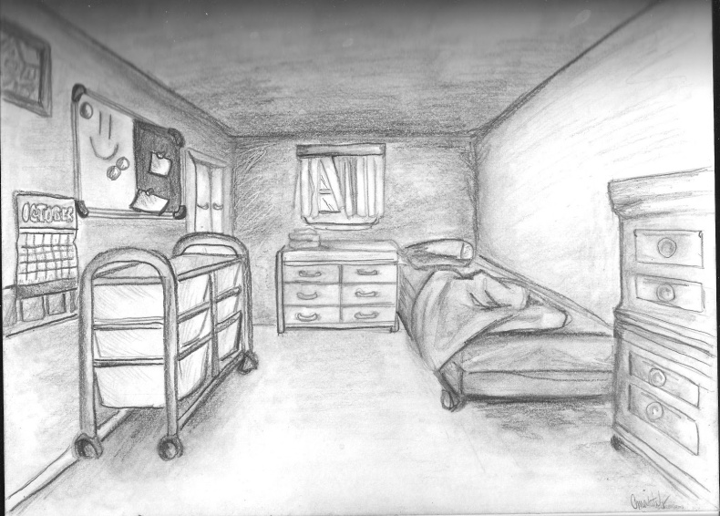 perspective-drawing-of-a-bedroom-616