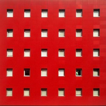Red facade & white windows facade - 01