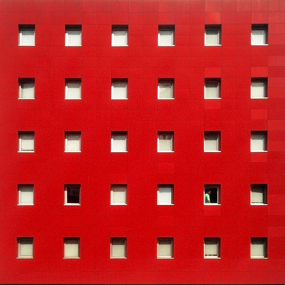 Red facade & white windows facade - 01