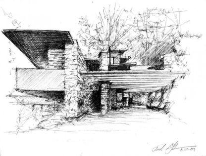 Unique architecture sketch