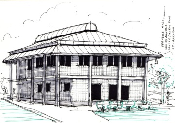 Trinidad buildings sketch