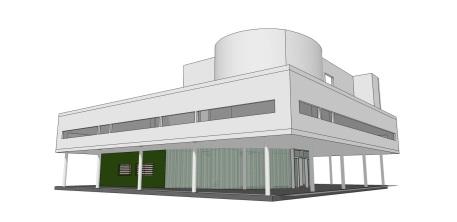 Villa Savoye - Le Corbusier - Sketch